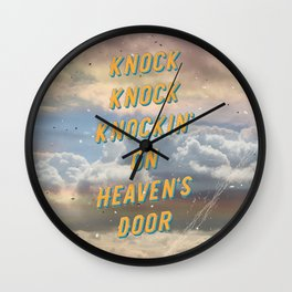 Knock Knock Knockin' on Heaven's Door - A Hell-Songbook Edition Wall Clock