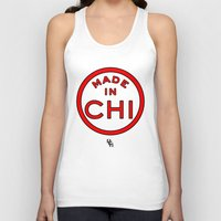 chicago bulls Tank Tops featuring Made in Chicago CHI BULLS by DCMBR - December Creative Group