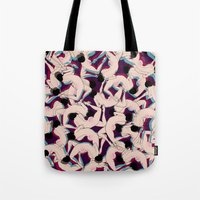 drunk Tote Bags featuring DRUNK by RUEI