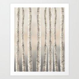 Birches-Winter Art Print