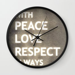 ... my life mantra ... Wall Clock