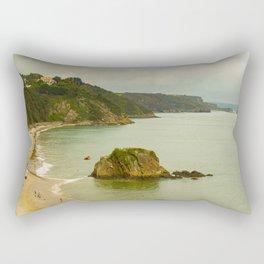 Tenby beach in Wales Rectangular Pillow