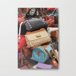 Designer Fashion Bags Metal Print