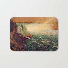 Albert Bierstadt, Niagara Falls, landscape oil painting. Bath Mat