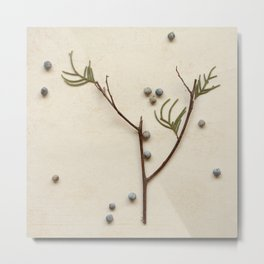 Natural Symbols - Small Tree Metal Print