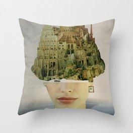 Miss Babel Throw Pillow