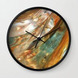 Glass swirl Wall Clock