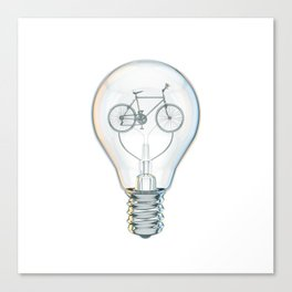 Light Bicycle Bulb Canvas Print