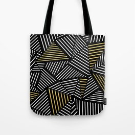 A Linear Black Gold Tote Bag