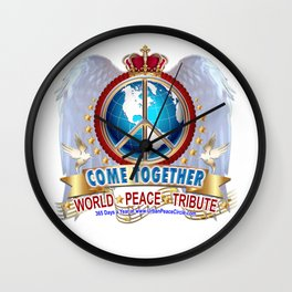Come Together for Peace Wall Clock