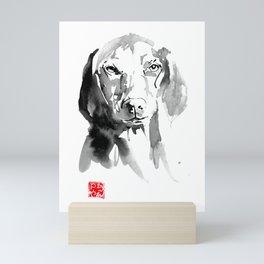 dog face 02 Mini Art Print