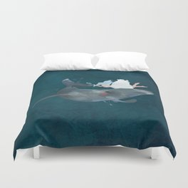 In the deep Duvet Cover