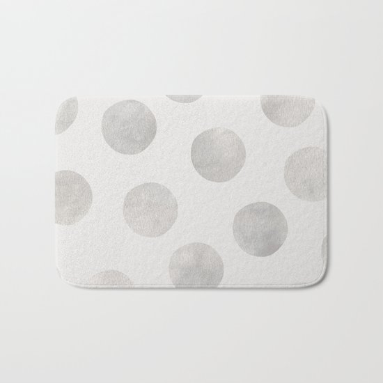 Silver Polka Dots Bath Mat