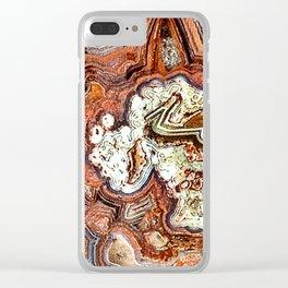 Noriega Lace Agate Clear iPhone Case