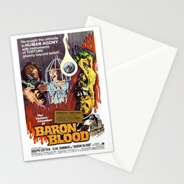 Baron Blood, vintage horror movie poster Stationery Cards