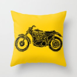 race shit Throw Pillow