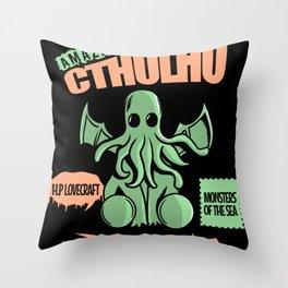 Amazing cthulhu Throw Pillow