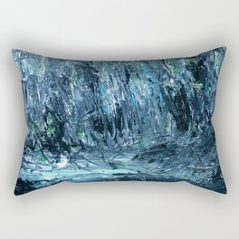 A Clearing Through The Swamp Acrylics On Stretched Canvas  Rectangular Pillow