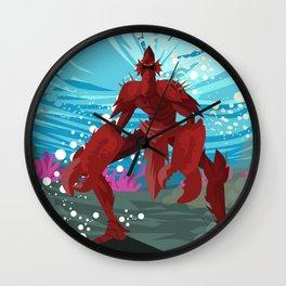 crab evil monster Wall Clock