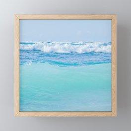 Kapukaulua Pure Blue Surf Framed Mini Art Print