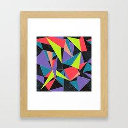 Geometric explosion Framed Art Print