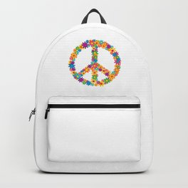 Floral Peace Sign Backpack