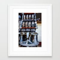 numbers Framed Art Prints featuring Numbers by Kent Moody