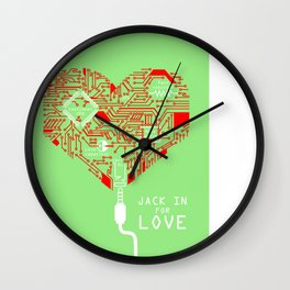 Jack In For Love Wall Clock