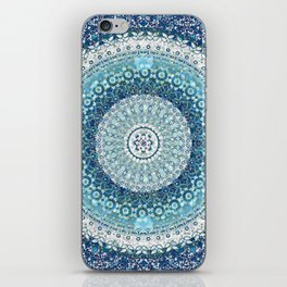 Teal Tapestry Mandala iPhone Skin