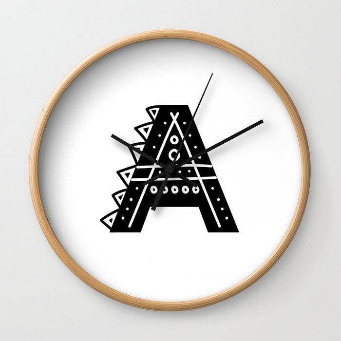 LETTER 'A' IMELA PRINT Wall Clock