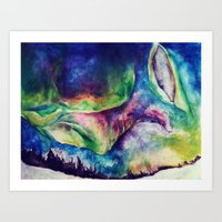 aurora Art Prints featuring Aurora by Hilary Dow