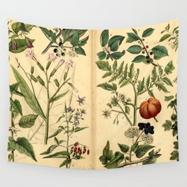 Natural History of the Plant Kingdom 1870 Wall Tapestry