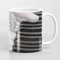 piano Mugs featuring Piano by aurelia-art