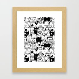 Itty Bitty Kitty Committee Framed Art Print