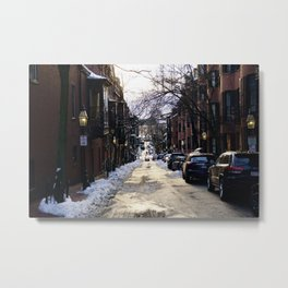 Boston Side Streets Metal Print