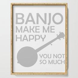Awesome Banjo's Tshirt Design Banjos Make me happy Serving Tray