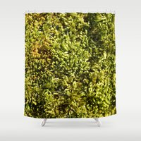 moss Shower Curtains featuring Moss by Laurianne Ceneda