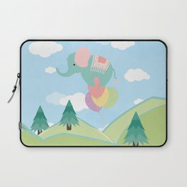 Elephant and Balloons, nursery decor , Laptop Sleeve