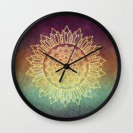Nature's Mandala Wall Clock