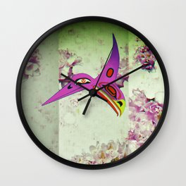 Hummingbird/Eagle Shoji Screen Wall Clock