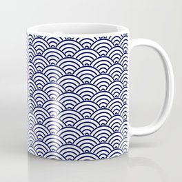 Japanese Koinobori fish scale Delft Blue Coffee Mug