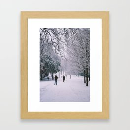 Winter Walks Framed Art Print