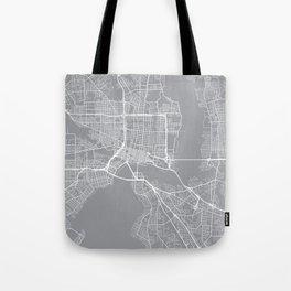 Indianapolis Map, Indiana USA - Pewter Tote Bag