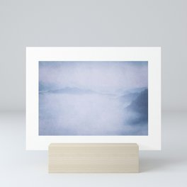 Sacred Cove Shrouded in Blue Mist Mini Art Print