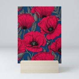 Night poppy garden  Mini Art Print