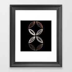 Mid Century Flower (vertical) Framed Art Print