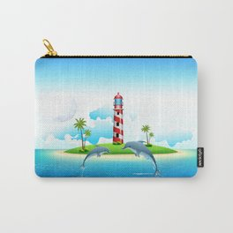 Jumping Dolphin on Sea Carry-All Pouch