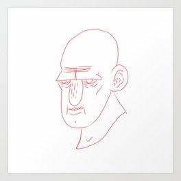 red line face Art Print