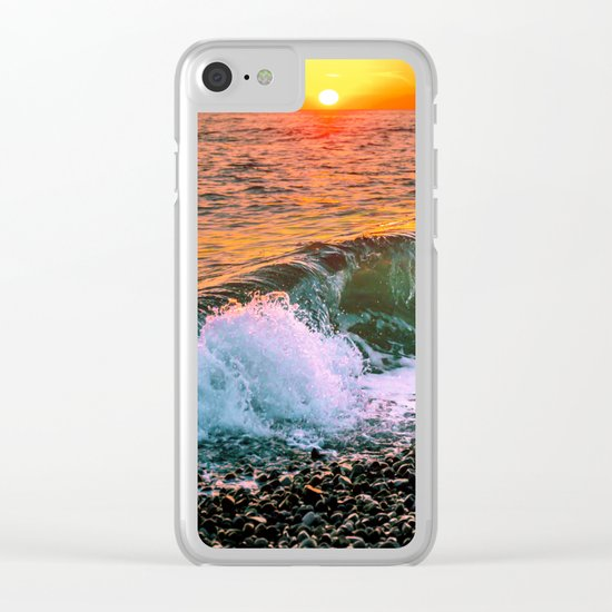 Sunset splash Clear iPhone Case