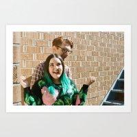 Weekend Portrait Series: Joel Turner & Anni Sugar 1 Art Print